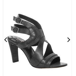 Raw Edged Leather Ankle Strap WADE Sandals